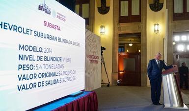 SUBASTARÁ GOBIERNO FEDRAL 263 VEHÍCULOS DE LUJO; LA MAYORÍA SON BLINDADOS